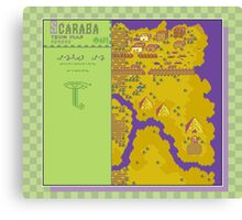 Scaraba Town Map - Earthbound/Mother 2 Canvas Print