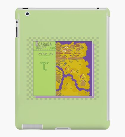 Scaraba Town Map - Earthbound/Mother 2 iPad Case/Skin