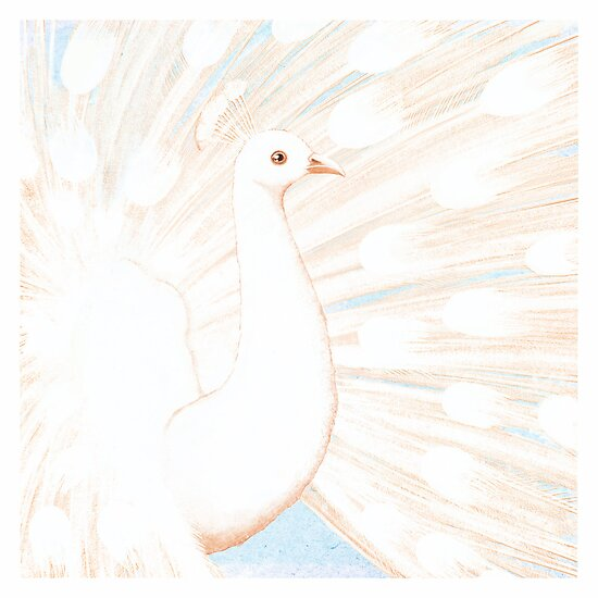 a white peacock by Maria Khersonets