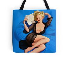 Vintage pin up - Am I too good to be true? Tote Bag