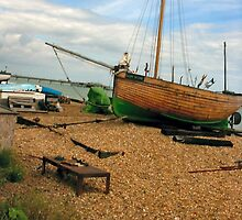 Wooden fishing boat, Deal, Kent by Woodie