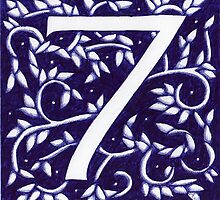 Number Seven Blue by Donna Huntriss