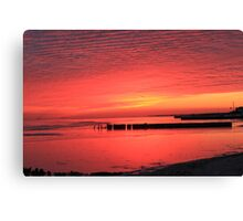 Foster Sunset Canvas Print