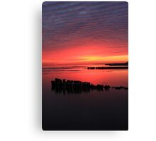 Foster Sunset #2 Canvas Print
