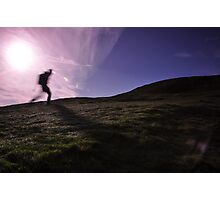 Morning Hill Walker Photographic Print