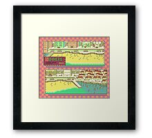 Summers Town Map - Earthbound/Mother 2 Framed Print