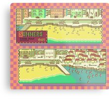Summers Town Map - Earthbound/Mother 2 Metal Print
