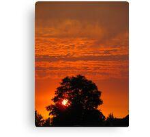 Smoke Sunset Canvas Print