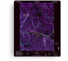 USGS Topo Map Oregon Lehman Springs 280503 1995 24000 Inverted Canvas Print