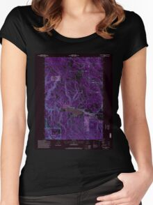 USGS Topo Map Oregon Lehman Springs 280503 1995 24000 Inverted Women's Fitted Scoop T-Shirt