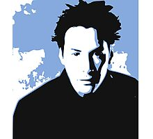 Keanu Reeves in the Matrix, Blue Tone Photographic Print
