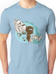 Butterfly collage - blue Unisex T-Shirt