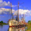 Shrimpboat at Dock  by WTBird
