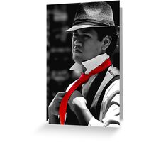 Red Tie Greeting Card