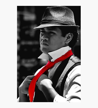 Red Tie Photographic Print