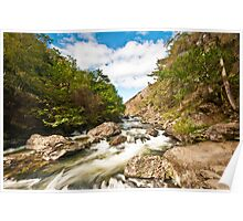 The River at Llyn Dinas Poster
