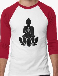 Buddha on a Lotus Men's Baseball ¾ T-Shirt