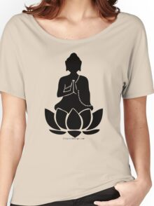 Buddha on a Lotus Women's Relaxed Fit T-Shirt