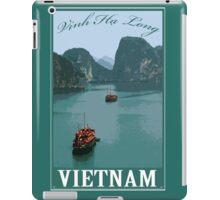 Vinh Ha Long (Ha Long bay) Vietnam Retro Travel Poster iPad Case/Skin