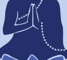 Meditating Buddha - blue Sticker