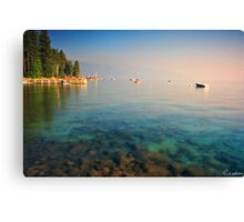 Morning by the Pier Canvas Print