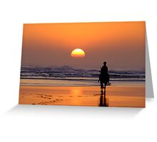 The End of The Day! Greeting Card