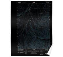 USGS Topo Map Oregon Pilot Rock 20110811 TM Inverted Poster
