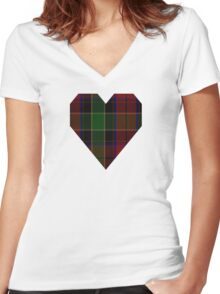 00359 Waterford Tartan  Women's Fitted V-Neck T-Shirt