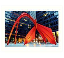 Calder's Flamingo Art Print