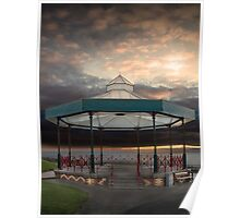 Bandstand, Tenby, Pembrokeshire Poster