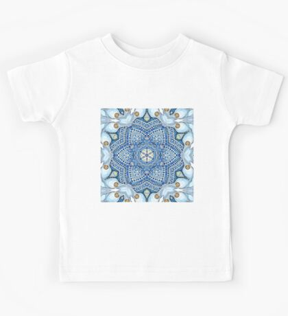 blue flowers Kids Tee