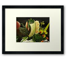 Fruit Herb Center Piece Framed Print