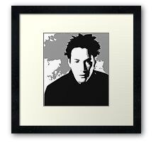 Keanu Reeves in the Matrix, Grey Color Framed Print