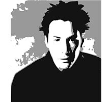 Keanu Reeves in the Matrix, Grey Color Photographic Print