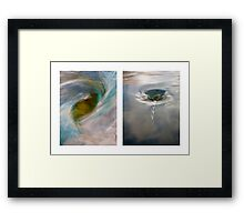Whirlpool I (Above and Below) Framed Print