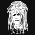 Jareth - Inked White with Text by Jon Winston