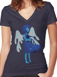 Lapis Lazuli Women's Fitted V-Neck T-Shirt
