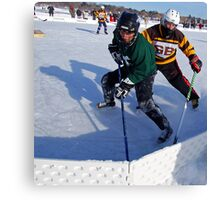 Pond Hockey - Hockey Players Canvas Print