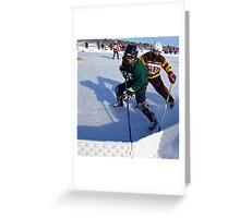 Pond Hockey - Hockey Players Greeting Card