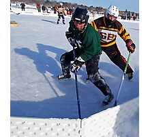 Pond Hockey - Hockey Players Photographic Print