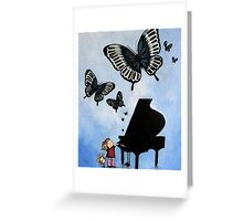 Butterfly Dance on middle C #3 - photoshop Greeting Card
