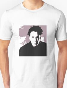 Keanu Reeves in the Matrix, Purple Color Unisex T-Shirt