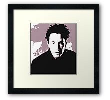 Keanu Reeves in the Matrix, Purple Color Framed Print