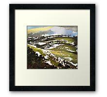"""Late Snow""  Framed Print"
