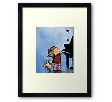 Butterfly Dance on Middle C - close up Framed Print