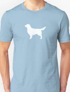 White Golden Retriever Silhouette T-Shirt