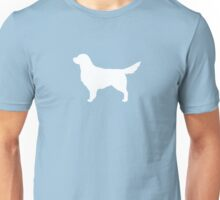 White Golden Retriever Silhouette(s) Unisex T-Shirt
