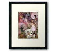 Magic In The Dandelion Fuzz Framed Print