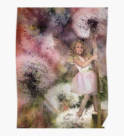 Magic In The Dandelion Fuzz Poster