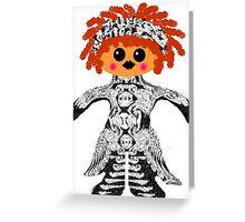 "My Little ""Voodoo Child"" Rag Doll Greeting Card"